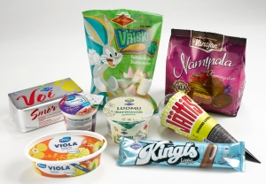 KM-Yhtymä Oy:n tuotteita